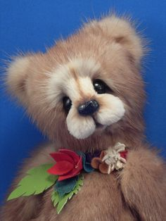 OOAK Artist Teddy Bear Mink Teddy Bear custom made by minkbears, $350.00