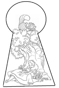 DeviantArt: More Like Alice in Wonderland Tattoo by plushymcmuffin Disney Coloring Pages, Coloring Pages To Print, Coloring Book Pages, Coloring For Kids, Alice And Wonderland Tattoos, Alice In Wonderland Party, Alice In Wonderland Printables, Alice In Wonderland Silhouette, Alice In Wonderland Pictures
