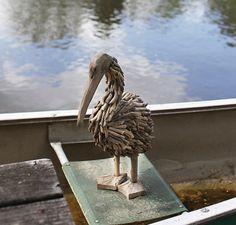 Driftwood pelican.