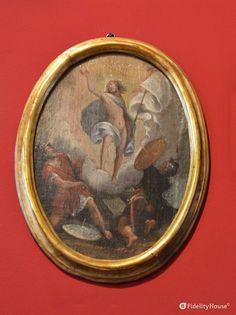 """E' il primo mistero """"Glorioso"""": La Resurrezione di Gesù. L'intero ciclo (15 quadri) si trova al Museo Diocesano di Mantova."""