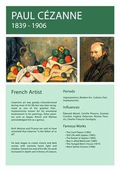 Paul Cezanne Info Sheet