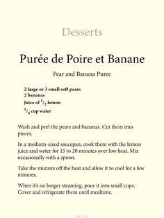 pear + banana purée