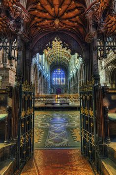 """Cathedral Choir Gates"" by Ian Mitchell.   http://fineartamerica.com/featured/cathedral-choir-gates-ian-mitchell.html"