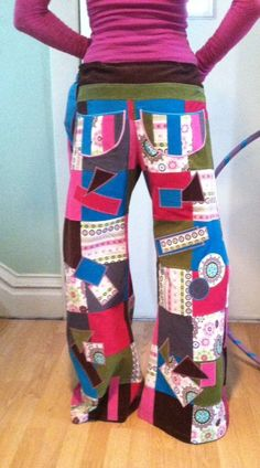 Sugar and Spice Patchwork Pants /Festival by DovesNestDesigns, $195.00