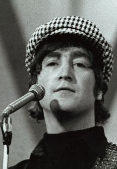 John Lennon in an ugly hat. I think THAT GIRL used to wear one..