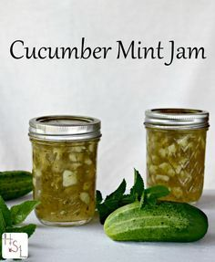Use up the abundant cucumber crop in this sweet and savory Cucumber Mint Jam.