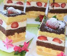 Kolorowy przekładaniec z owocami - PrzyslijPrzepis.pl Tiramisu, Ale, Cheesecake, Food And Drink, Cooking Recipes, Pudding, Cupcakes, Sweets, Baking
