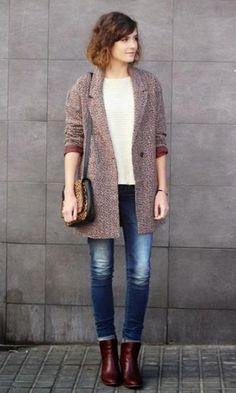 Look Inverno Como uma Parisiense: Casaco + Tricot