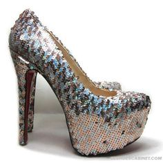 Christian-Louboutin-Daffodile-160mm-Sequin-Pumps-Gold-Silver