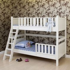 very cute white bunk beds