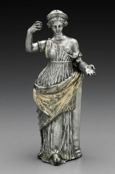 Silver and gold leaf statuette of Aphrodite. Greek or Roman. Late Hellenistic or Imperial Period.  1st century B.C.–1st century A.D.   Museum of Fine Arts, Boston