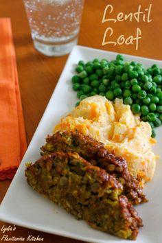 Lentil Loaf ~ Lydia's Flexitarian Kitchen