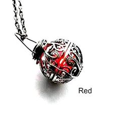 Light Up Necklace Magical Red glowing battery operated LED Handmade Gift by Aunt Matilda's Jewelry Box - deal deal Handmade Rings, Handmade Silver, Handmade Jewelry, Jewelry Box, Vintage Jewelry, Jewelry Making, Wire Jewelry, Jewelry Gifts, Jewellery