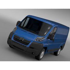Citroen Relay Van L1H1 2006- 3D Car for Maya