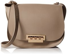 ZAC Zac Posen Eartha Iconic Saddle Shoulder Bag, Beige -- Want to know more, click on the image. Peep Toe Flats, Zac Posen, Saddle Bags, Gifts For Women, Beige, Shoulder Bag, Handbags, Essentials, Clock