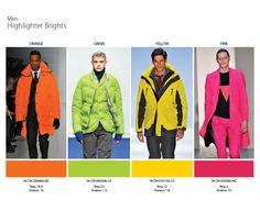 Fall/Winter 2014 Color Trends: a Highlighter Brights Fall Fashion Colors, Love Fashion, Winter Fashion, Fashion Men, 2015 Color Trends, 2014 Trends, Fashion Week 2015, Fashion Trends, Fashion Inspiration