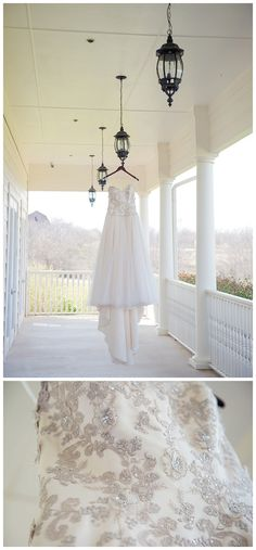 Bride's dress with gray accents at The Milestone Denton by brittanybarclay.com