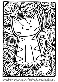 cat Zentangle Coloring Pages - Yahoo Image Search Results