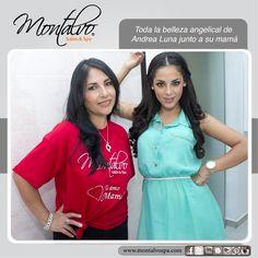 Toda la belleza angelical de Andrea Luna junto a su mamá en Montalvo Salon & Spa (www.montalvospa.com)