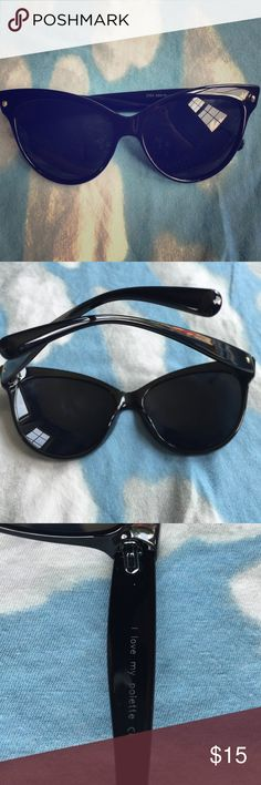 Retro cat-eye black sunglasses. New, never worn retro-glam black cat-eye sunglasses. Bought them last year just never ended up wearing them over my trusty old pair that I always wear. In perfect condition! Accessories Sunglasses