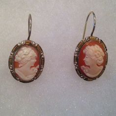"""Cameo Earrings These are lightweight vintage cameo earrings. There is some discoloration on the """"gold"""" portions. My mom is selling these, let me know if you have any questions and I'll do my best to answer.  Jewelry Earrings"""