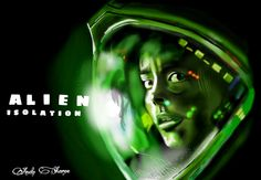 From the video game Alien Isolation, drawn with picsart on the galaxy note 10.1 with stylus