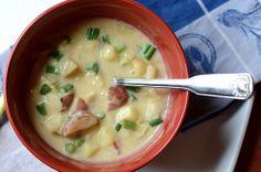 {light} cheesy potato soup -- ready in 40 minutes!