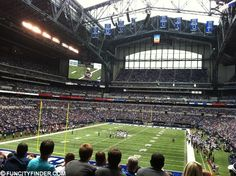 Lucas Oil Stadium in Indianapolis is regularly ranked as one of the nicest football stadiums in the country. List Of Sports, Hoosier Mama, Lucas Oil Stadium, Football Stadiums, Indianapolis Colts, Past, Cathedral, Bucket, Events