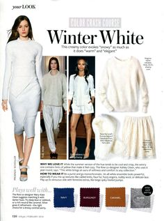 InStyle Color Crash Course - Winter White