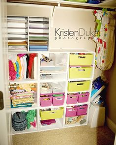 Craft Closet Organization: Before & After with Target itso cubes - Kristen Duke Photography
