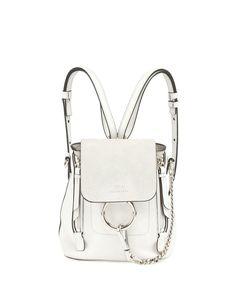 2c0b1c9a682 Chloé   White Faye Mini Leather Backpack   Lyst Stylish Backpacks, Leather  Backpacks, Mini