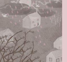 Katey-Jean Harvey illustrator illustration art design style inspiration peachy print folio pink grey girl house children