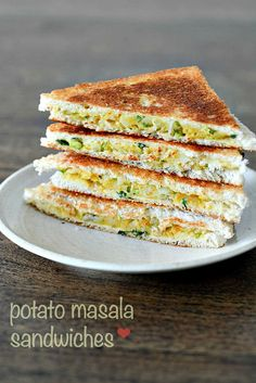 Aloo Masala Sandwich Recipe - Easy Tea Time Snack Recipes