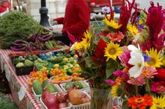 Dane Co. Farmer's Market on the Capitol Square - it is considered one of the best in the country.