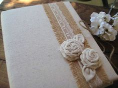 Rustic Wedding Photo Album by goodbuyNoraJean on Etsy, $46.95