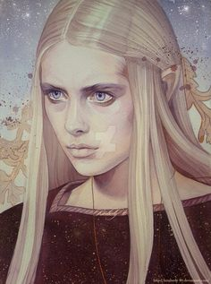 "Celebrian is an Elven noblewoman, the daughter of Celeborn and Galadriel, wife of Elrond, and mother of Elrohir, Elladan and Arwen. She was called the Lady of Rivendell. Her name means ""silver crown-gift"" in Sindarin.  Celebrian by kimberly80 on DeviantArt"