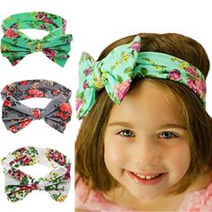 1 New Baby Girls Toddler Infant Newborn Flowers Print Floral Butterfly Bow  Hairband Turban Knot Headband Hair Band Accessories f73cdfdd062e