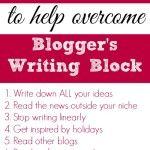 10 Tips for Overcoming Blog Writer's Block