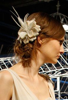 Pretty flower treatment from Alice + Olivia's Spring 2012 Collection (Photo: Fairchild Archive)
