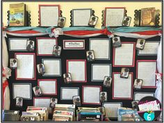 """A Book """"Shelfie"""" bulletin board for the first week of school.  Great way to get kids to talk about the books they like."""