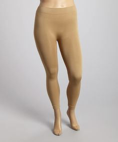 Look what I found on #zulily! Tan Leggings - Plus #zulilyfinds