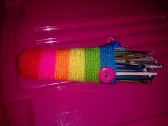 funda para agujas crochet