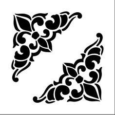 Reusable Laser-Cut Floor or Wall Quarter Tile Stencil – Decoration Stencils, Stencil Art, Bird Stencil, Damask Stencil, Hand Painted Wallpaper, Painting Wallpaper, Stencil Patterns, Stencil Designs, Deco Cuir