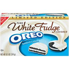 Oreo Pure White Fudge Covered Sandwich Cookies, 8.5 oz: Snacks, Cookies & Chips : Walmart.com