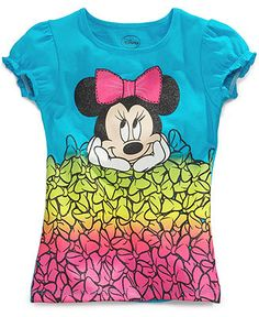 Disney Kids T-Shirts, Little Girls Minnie Mouse Graphic Tees - Kids Girls 2-6X - Macy's