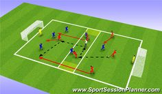 Football/Soccer Session (Difficult): Creating Angles of Support U7 Soccer Drills, Football Drills For Kids, Soccer Warm Up Drills, Football Coaching Drills, Soccer Training Drills, Soccer Practice, Soccer Skills, Football Soccer, Soccer Tips