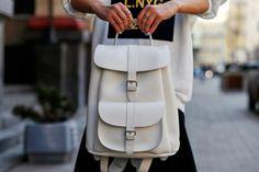 Salt white leather rucksack by Grafea www.grafea.co.uk