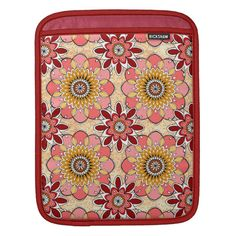 Shop Floral Mandala Flower Art iPad Sleeve created by thaneeyamcardle. Flower Mandala, Flower Art, Personalized Birthday Gifts, Ipad Sleeve, Customized Gifts, Custom Gifts, Red Barns, Quatrefoil, Cover Design