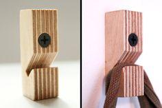 Birch plywood wallhooks set of three by MAATALO on Etsy