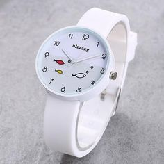 JOYROX Children Watch For Girls Color Silicone Strap Fashion Quartz Wristwatch Fish Dial Cartoon Kids Clock Relogio Feminino Simple Cheap Watches Outfit Accessories From Touchy Style Cool Cheap Watches, Best Kids Watches, Fancy Watches, Cute Watches, Rose Gold Watches, Stylish Watches, Sport Watches, Amazing Watches, Best Affordable Watches